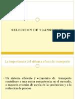 4.4 Seleccion de Rutas de Transporte