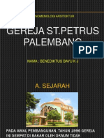 Fenomenologi Arsitektur Gereja St.petrus Palembang