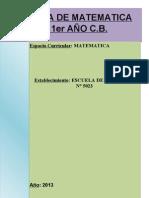 Cartilla de Matematica de 1er c.b. 2013