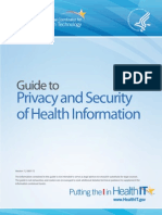 Guide to Privacy and Security of Healthcare Information