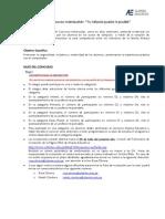 Bases de Concurso Interescolar 2013