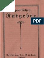 """Sportlicher Ratgeber - Grethlein & Co, G.m.b.H Leipzig / Bücherkatalog """"Bibliothek für Sport und Spiel"""""""