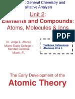 Unit.02.Elements and Compounds. Atoms, Molecules & Ions.lecture