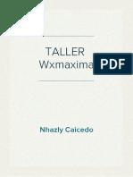 TALLER  Wxmaxima