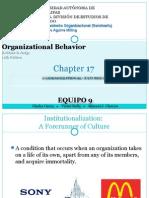 O.B. PPT CAP 17 - CULTURA ORGANIZACIONAL