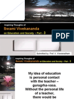 Inspiring Thoughts of Swami Vivekananda on Education and Society - Part 3 -