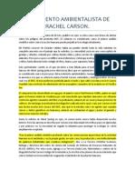 Movimiento Ambientalista de Rachel Carson