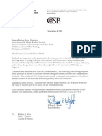 Chemical Safety Board Response to Senate in 2007
