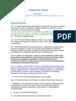 Da Organização político-administrativa da República Federativa do Brasil (art.18 e 19)