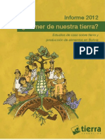 Informe 2012. Comer de Nuestra Tierra Estudios de Caso Sobre Tierra