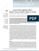 An Aqueous Rechargeable Lithium Battery Using Coated Li Metal as Anode