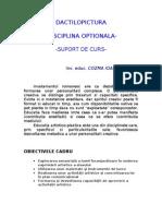 Dactilopictura disciplina optionala- suport de curs