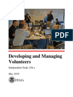 Developing and Managing Volunteers