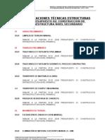 Especif Tecnicas Estructuras Colegio Bolivariano (Nivel Secundario)