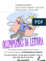 Olimpíadas da Leitura - cartaz