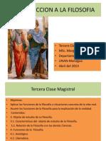 Filosofia Tercera Clase Magistral 2013