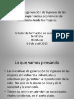 Síntesis - iniciativas -experiencias Honduras