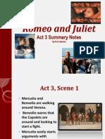 R&J Act 3 Summary Notes
