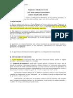 reglamento de evaluación 2013