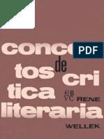 wellek, rene - conceptos de críica literaria