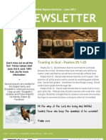 Living Water Newsletter