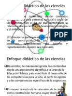 1) Enfoque de Las Ciencias 2011 -2012