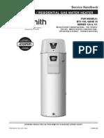A/O Smith Gas Water Heater Service Handbook