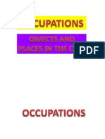 Occupations,Objects and Places in the City