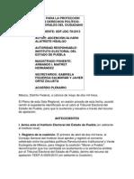 JUICIO PARA LA PROTECCIÓN DE LOS DERECHOS POLÍTICOS