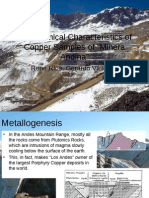 Geologic Characteristics of Copper Samples