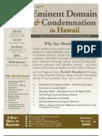 2d Annual Eminent Domain & Condemnation in Hawaii - Aug 21, 2013 - Honolulu - The Seminar Group