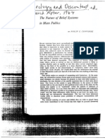 The Nature of Belief Systems in Mass Publics Converse 1964