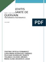 Tenosinoitis de Quervain.