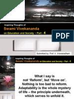 Inspiring Thoughts of Swami Vivekananda on Education and Society - Part 4