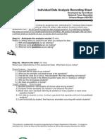 individual data analysis recording sheet