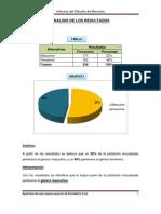 ANALISIS DE LOS RESULTADOS DE INVESTIGACIÓN DE MERCADOS