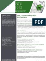 DIA Europe Fellowship Programme 2013
