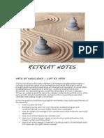Living Yoga, Retreat Notes