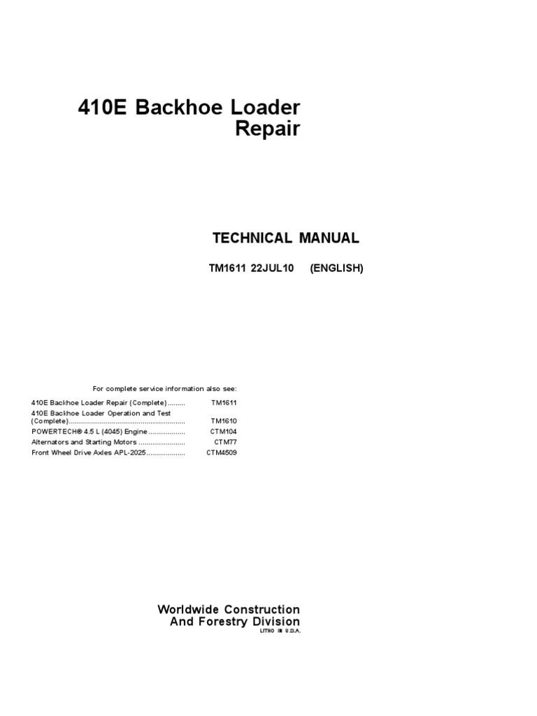 Manual Servicio Retro 410e Pdf Loader Equipment Screw On Sun Tach 3 5660 Wiring  Diagram