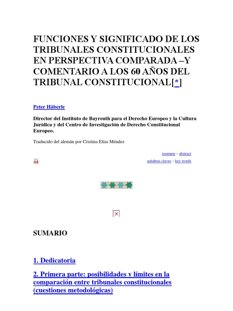 FUNCIONES Y SIGNIFICADO DE LOS TRIBUNALES CONSTITUCIONALES EN ...