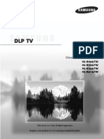 Samsung HLR5067W 50 DLP HD-Ready Projection TV Owners Manual