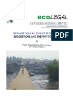 Sewage Control in Nigeria Suggestions and Ideas