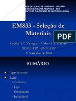 EM 833- seleção de ligas ferrosas