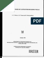 Dynamic Response of Cantiliver Retaining Walls, Veletsos and Younan