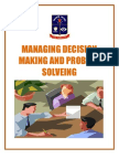 Managing Decision Making and Problem Solveing