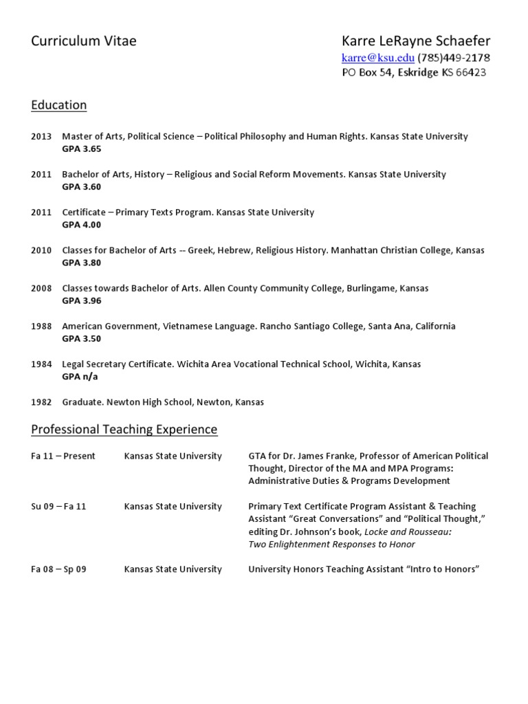 Resume Cv Base Wo References Abolitionism In The United States