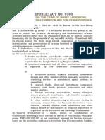 RA 9160-Anti-Money Laundering Act of 2001