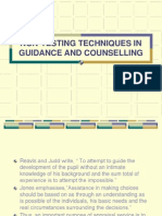 Non-testing Techniques in Guidance and Counselling