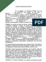 26 - Constitucion de Hipoteca