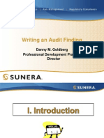 Audit Finding Writing